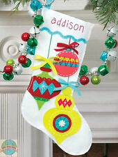 Felt Embroidery Kit ~ Dimensions Bright Ornaments XMAS Stocking #72-08188 SALE!