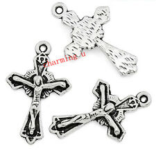 5pz charms ciondoli crocifisso colore argento tibet  23x15mm,lead,nickel free
