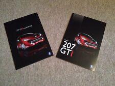 Par De Peugeot 207 GTI 175 mercado del Reino Unido Folleto de ventas, folleto 175 Cv Libro Raro