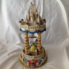 RARE Disney Beauty & The Beast ENCHANTED CASTLE Musical Lite Up SnowGlobe-MIB