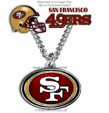 """SAN FRANCISCO 49ERS NECKLACE for MALE or FEMALE - NFL GIFT SALE - 24"""" CHAIN  CB*"""