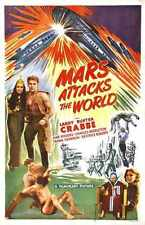 Mars Attacks World Poster 01 A4 10x8 Photo Print