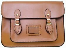 Ladies brown fashion  vintage work briefcase school satchel shoulder bag