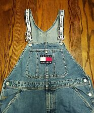 Vintage Vtg Rare Tommy Hilfiger Overalls Big Logo Spell Out Men's Large Baggy