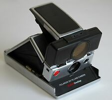 VTG POLAROID SX-70 SONAR One Step Instant Film Land Camera Black Leather