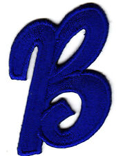"LETTERS - Royal Blue Script  2"" Letter ""B"" - Iron On Embroidered Applique"