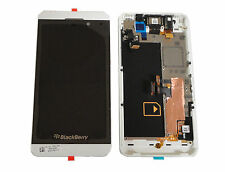 BlackBerry Z10 4G Cellphone LCD Screen Digitizer Assembly W 4G Mid Frame White
