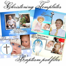 PSD Photoshop Templates for baptism / christening templates
