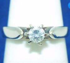 1/4ct DIAMOND SOLITARE ENGAGEMENT RING SOLID 14KW GOLD 2.5g SIZE 4.25
