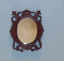 MAHOGANY WALL MIRROR DOLL HOUSE FURNITURE MINIATURES ON SALE