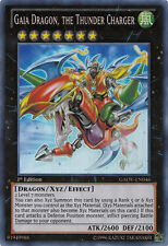 YuGiOh Gaia Dragon, the Thunder Charger - GAOV-EN046 - Super Rare 1st Edition LP