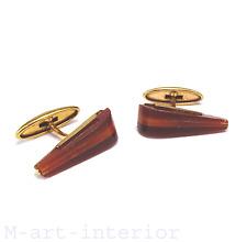 Modernist Manschettenknöpfe Bernstein Gold Russian amber cufflinks 1950 vintage