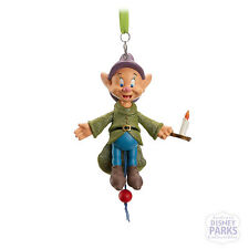 Disney Parks Dopey Articulated Figural Christmas Ornament  Pull-String Holiday