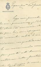 Lettera Autografo Carlo Municchi Prefetto Milano Soppressione Fascio Operaio