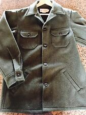BEMIDJI WOOLEN MILLS Retail $175 Wool Shirt-Jacket Like Filson Med ***REDUCED***