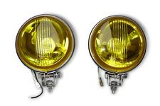 Vespa Lambretta Stainless Spotlights Spots Spot YELLOW - Pair