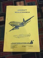 Chartmasters Uk Aircraft Scale Models Catalogue 1980