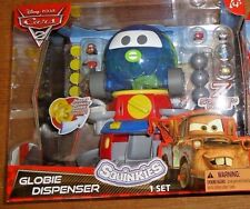 Disney CARS 2 squinkies GLOBIE DISPENSER + 7 skinquies SET *NIB