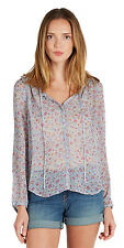 $248 NWT JOIE Sofina Floral Printed Silk Top Peasant Blouse - Blue Sky M Medium