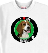 Big Dog T Shirt - I Love My Beagle Women Men Adopt Rescue Animal Friend Cat # 6