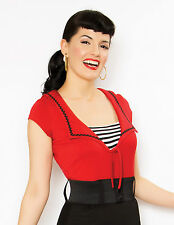 Savvy Sailor Red Top 14 Pin Up Top 14 Rockabilly Top 14 Sailor Jerry Shirt 14