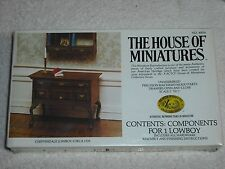 """House Of Miniatures Dollhouse Furniture Kit 1"""" Scale Chippendale Lowboy #40024"""