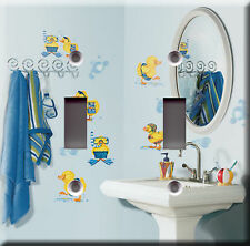 Double Light Switch Plate Cover - Ducks & Bubbles