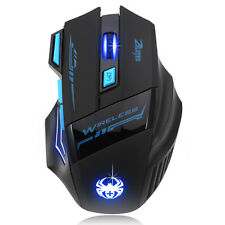 Adjustable 2400DPI 7 buttons Optical Wireless Gaming Game Mouse For Laptop PC