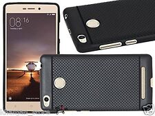 Mobile Cover Dotted Back Case Finger print for Xiaomi Redmi 3S / 3S Prime -Black
