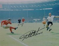 Signed Geoff Hurst England 1966 World Cup Final Autograph Goal Photo Wembley