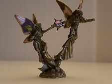 COLLECTIBLE GALLO 1993 PAIR OF PEWTER FAIRIES FIGURINE DESIGNED BY ROBERT RIDOLF