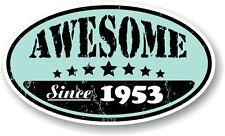 EFFETTO ANTICATO INVECCHIATO indossato Awesome dal 1953 OVALE Retrò Casco Moto Auto Adesivo