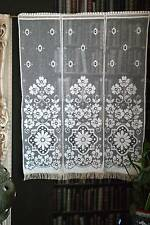 "Antique c1930s Arts & Crafts Curtain cotton lace panel 35""x45"" deadstock.sample"