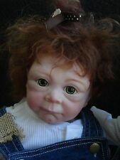 "Reborn 20"" Nordic Troll Baby Girl Doll- looks real! Ooak!"