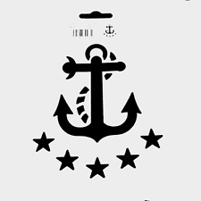 ANCHOR STENCIL NAUTICAL SEA OCEAN MARINE STENCILS TEMPLATE TEMPLATES CRAFT NEW
