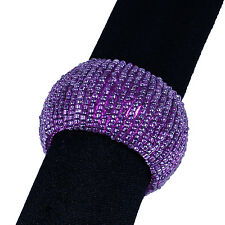 6 DARK PURPLE BEADED NAPKIN RINGS, Have 100s for Events, Variety of Colors