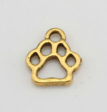 18pcs Antique Gold  Alloy Hollow Paw Print Charm Pendant DIY Jewelry 11x13mm