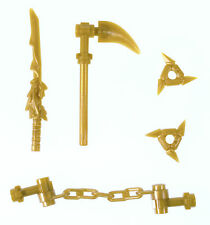 LEGO NINJAGO MINIFIGURE GOLDEN WEAPONS PACK DRAGON SWORD LLOYD NINJA SPINJITZU