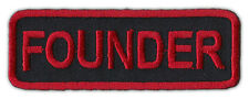 Motorcycle Jacket Embroidered Patch - Founder - Rank, Position - Red/Black