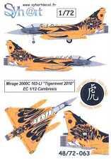 Syhart Decals 1/72 DASSAULT MIRAGE 2000C Tigermeet 2010 EC 1/12 Cambresis