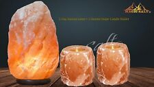 Natural Therapeutic Himalayan Salt Lamp 2-3Kg lamp + 2 Candle Holders