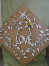 Shabby Chic Love Heart Metal Wall Hanging Art Work