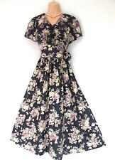 VINTAGE LAURA ASHLEY ENGLISH SWEET LILY VIOLET EXTRA SPRING BEAUTY DRESS 12
