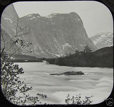 Glass Magic Lantern Slide ROMSDAL VIEW FROM THE RAUMA C1888 PHOTO NORWAY