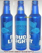 2016 BUD LIGHT 502679 NO RETURN BLOCK LETTER NEW DESIGN ALUMINUM BEER BOTTLE-CAN