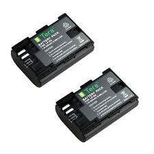 2X LP-E6 2650mAh Battery for Camera Canon EOS 5D Mark II III 5DS 6D 60D 7D 70D