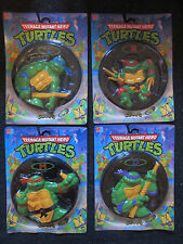 Vintage Teenage Mutant Hero Ninja Turtles SET OF 4 TMNT GOOPS Frisbee MOC SEALED