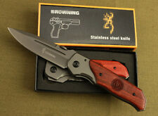 BRN Knife Red acid Saber Outdoor Camping Hunting Pocket Folding Tool K46 Gift