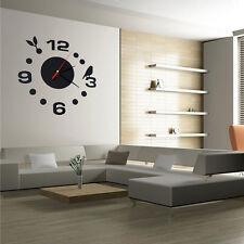 Modern DIY Large Wall Clock 3D Mirror Effect Sticker Decal Home Art Decor DIY