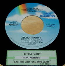 Reba McEntire 45 Little Girl / Am I The Only One Who Cares  w/ts